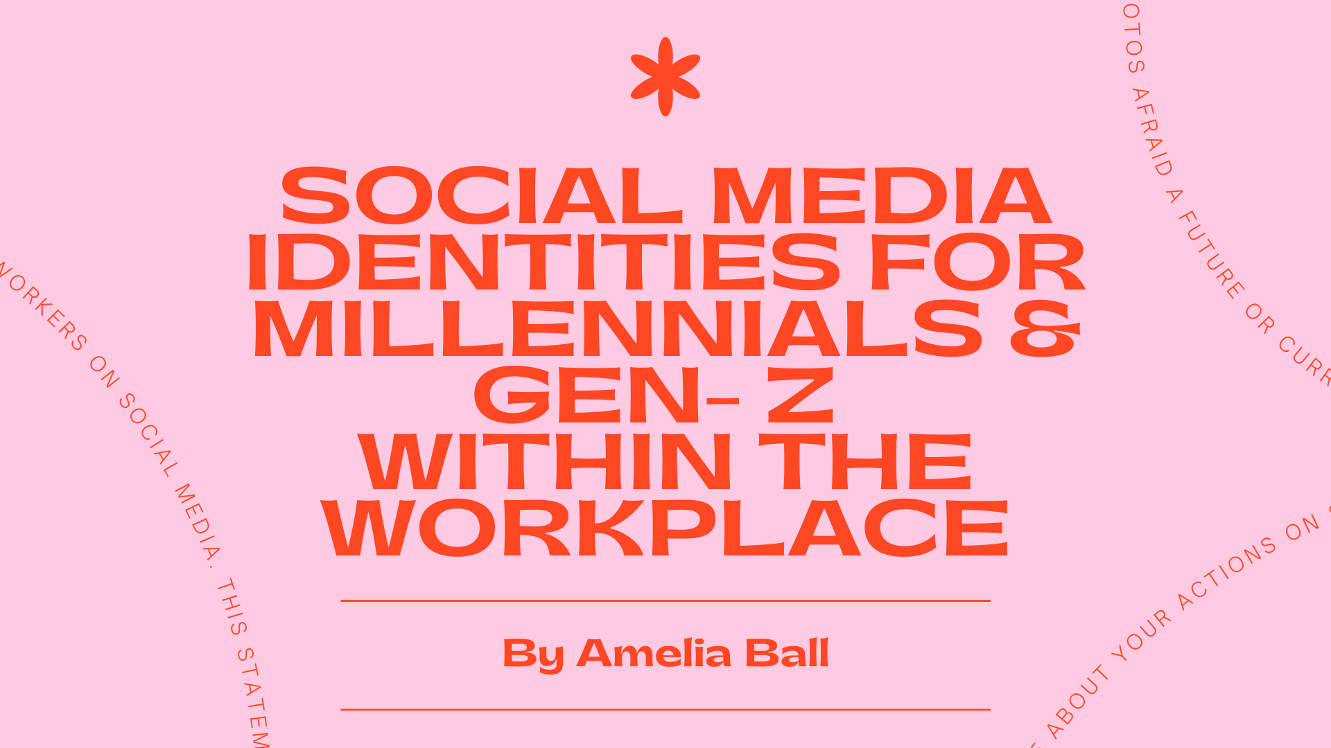 Social Media Identities for Millennials & Gen-Z Within the Workplace