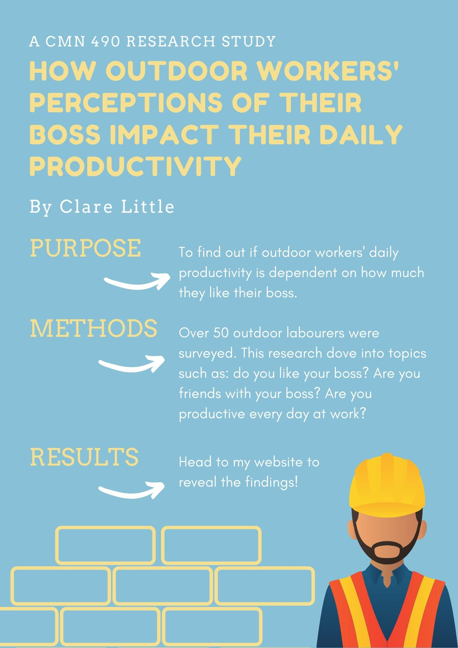 How Outdoor Workers' Perceptions of Their Boss Impacts Their Daily Productivity