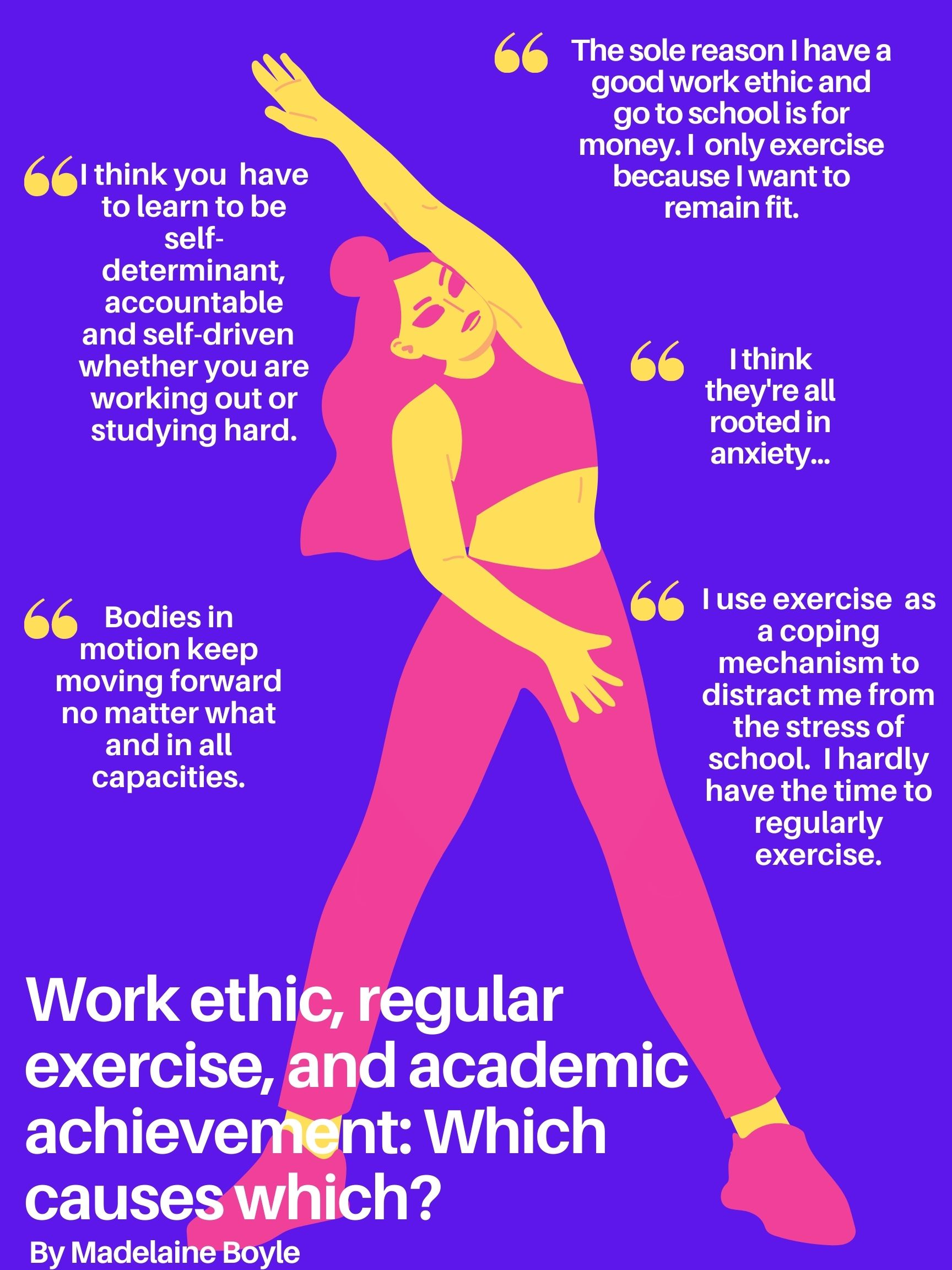 Work Ethic, Regular Exercise, and Academic Achievement: Which Causes Which?