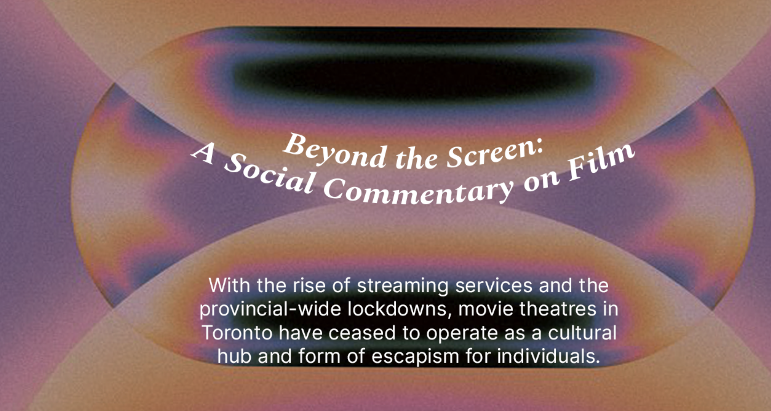 Beyond the Screen: A Social Commentary on Film