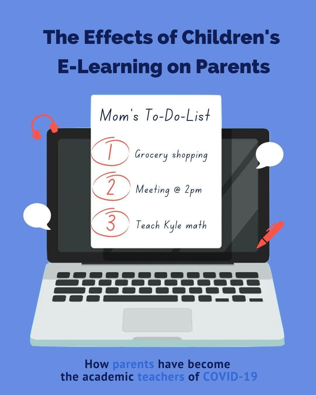 Investigating the Effects of Children's E-Learning on Parents' COVID-19 Experience